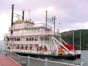 the sea pirate ship, Frontier at port Hakone on lake Ashi