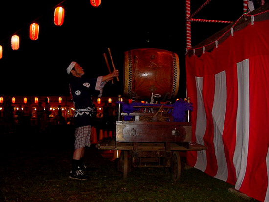 Japanese traditional drummer