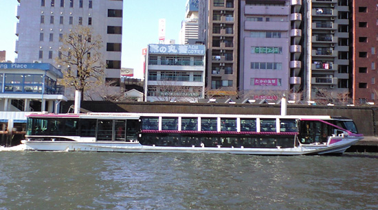 Tokyo sightseeing boat cruise on sumida river