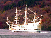 the sea pirate ship, Vasa at port Hakone on lake Ashi